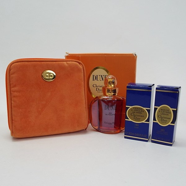 クリスチャン・ディオール 香水 ネイル 口紅 ポーチセット デューン オードトワレ スプレータイプ #164 #361 フレグランス 中古 Christian Dior DUNE EDT SP