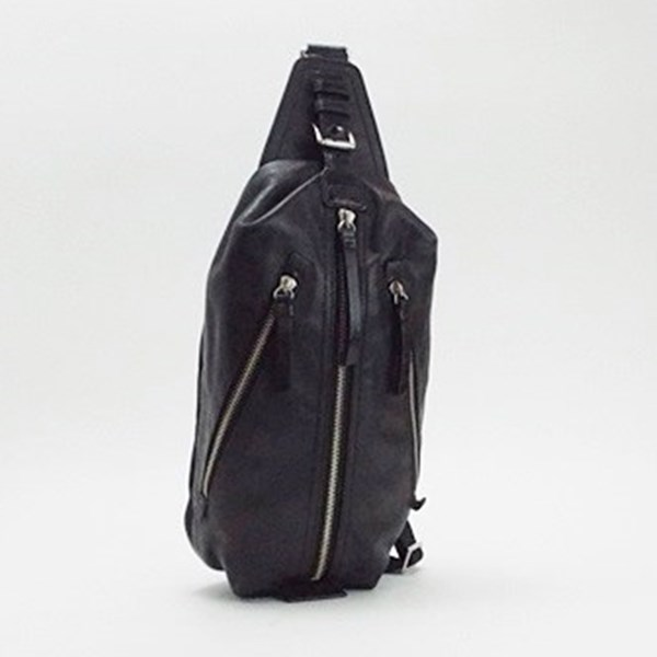 コーチ レザー ボディバッグ ブラック 70360 中古 Bランク COACH |メンズ カジュアル ブランド バッグ