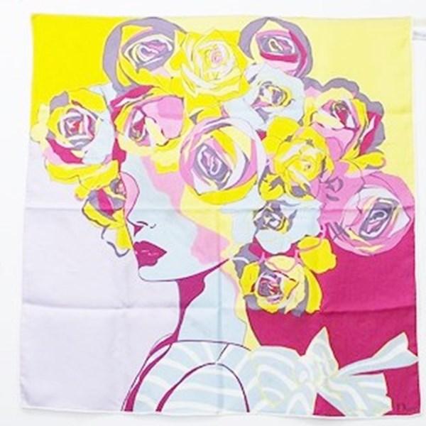 クリスチャン・ディオール シルク スカーフ マルチカラー 花柄 中古 Bランク Christian Dior | レディース【ネコポス送料無料】