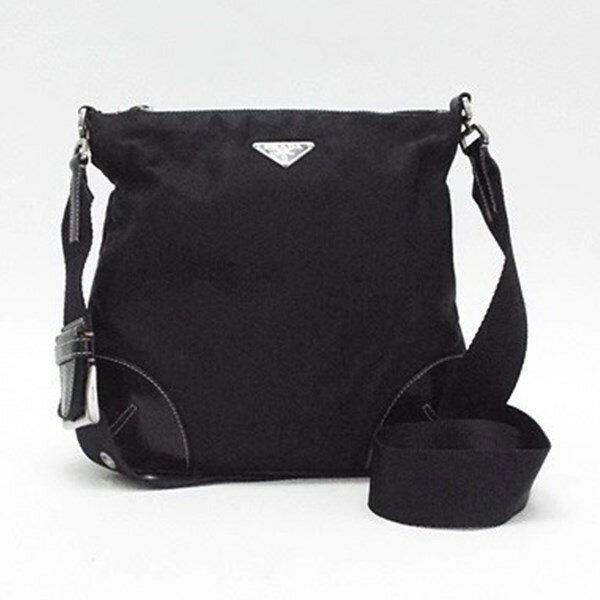 プラダ ナイロン ショルダーバッグ 斜め掛け ブラック 中古 Bランク PRADA |レディース メンズ 男女兼用 カジュアル 軽量 ブランド バッグ