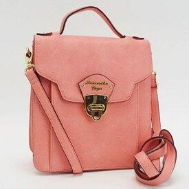 サマンサ ベガ 3WAY ハンドバッグ ショルダーバッグ リュック 斜め掛け ゴールド金具 ピンク サーモンピンク 中古 Bランク Samantha Vega| レディース ブランド バッグ