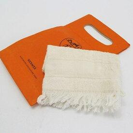 エルメス ミトン タオル アイボリー 紙袋付き 中古 Aランク 未使用 HERMES|ベビー バススポンジ【ネコポス送料無料】