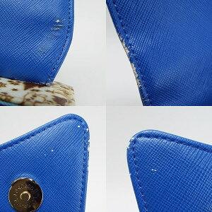 サマンサベガ2WAYハンドバッグショルダーバッグ斜め掛けブルーオラフ柄中古BランクSamanthaVegaレディース