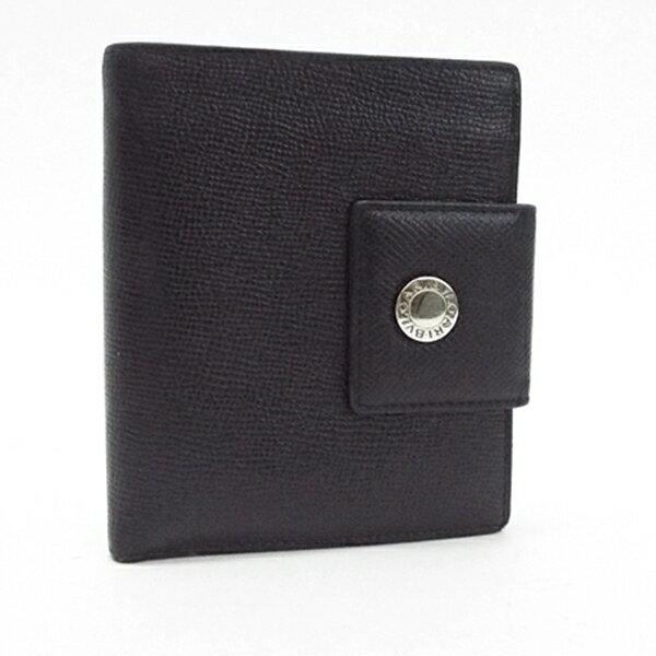 ブルガリ 二つ折り財布 レザー ブラック 中古 Bランク BVLGARI | メンズ 男性用【ネコポス送料無料】