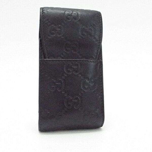 グッチ グッチシマ シガレットケース タバコケース 181716 ブラック 中古 ABランク GUCCI |男性用 メンズ ブランド ロゴ