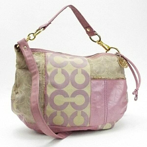 コーチ 2WAYバッグ ショルダーバッグ ハンドバッグ 斜め掛け 肩掛け パッチワーク柄 ピンク 13709 中古 Cランク COACH |ブランド レディース 女性 バッグ
