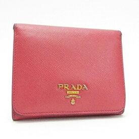 466a34cd507b プラダ 三つ折り財布 サフィアーノ ピンク×ゴールド金具 コンパクト財布 中古 Bランク PRADA |