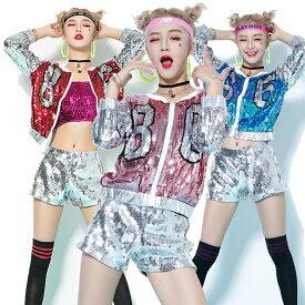 ●送料無料 ダンス衣装 ジャンパー ジャケット セットアップ ダンス衣装 ヒップホップ ステージ衣装 ダンス着 ショート DANCE レディース チーム 団体 イベント 文化祭 学園祭 コスチューム