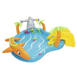 大型プール すべり台 滑り台 大型 ビニールプール 噴水 ベランダ ファミリープール キッズプール 子供用プール 子ども用プール 家庭用プール ガーデンプール すべり台付き 滑り台付き スラ