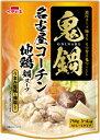 【イチビキ】鬼鍋 名古屋コーチン地鶏 鍋スープ 750g 3〜4人分【冬季限定】