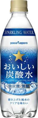 【サッポロ】おいしい炭酸水 500ml×24本【月間特売】