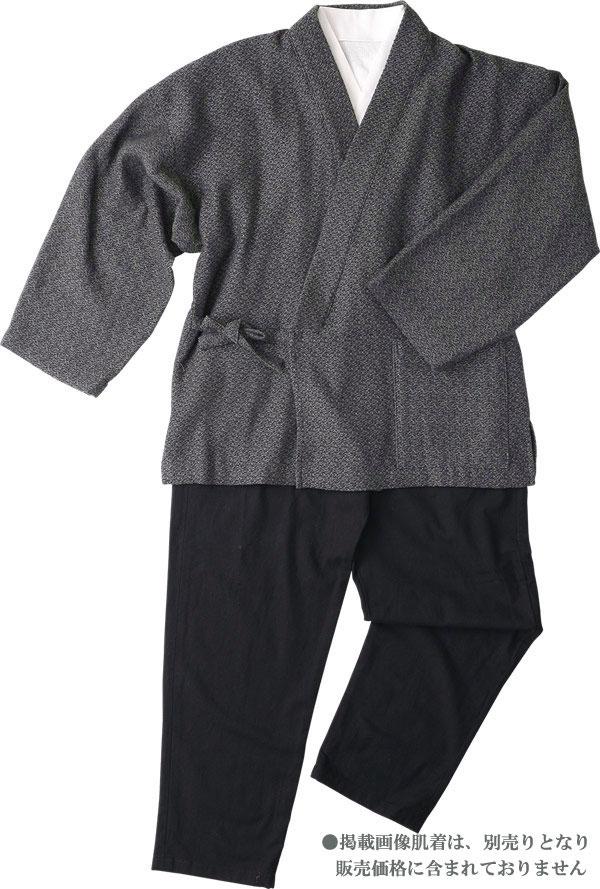 作務衣 メンズ 高級 樹亜羅-一杢 作務衣-綿100% ツイート風ブラウン 寛-3【楽ギフ_包装】