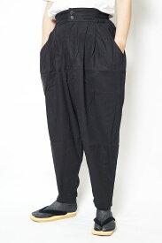 作務衣 パンツ かく宗 綿100% 作務衣ゆったりパンツ 黒 S/M/L/LL 作業パンツ もんぺ ズボン