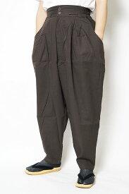 作務衣 パンツ かく宗 綿100% 作務衣ゆったりパンツ 茶 S/M/L/LL 作業パンツ もんぺ ズボン