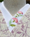 あざみ 絽☆刺繍 半衿 ひめ吉オリジナルデザイン☆夏半襟・絽ゆうパケットは日時指定できません、ポスト投函です。…