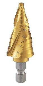 TRUSCO/トラスコ中山(株) ステップドリル 3枚刃チタンコーティング 5〜27mm 段数12 3S-NMS-27G