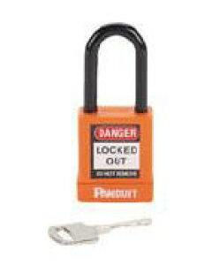 パンドウイット ロックアウト用非電導性パドロック オレンジ (1個=1箱) PSL-8OR