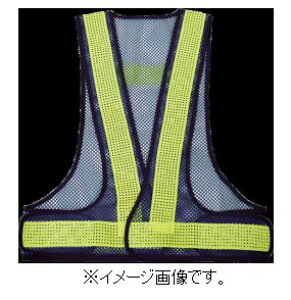 TRUSCO/トラスコ中山(株) メッシュ安全ベスト 紺*イエロー TMV-BY