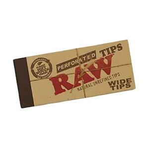 3冊セット RAW NATURAL HEMP&COTTON ROLLING WIDE TIPS ロウ 無漂白ローチ 巻きタバコ用フィルター [並行輸入品]