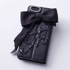 ブランド名Hime.おしゃれで可愛い女子の素敵な全機種対応イニシャルデコ手帳型スマホケース アイフォンケース 携帯ケース 大人かわいい ケータイケース スマホケース ビジュー キラキラ