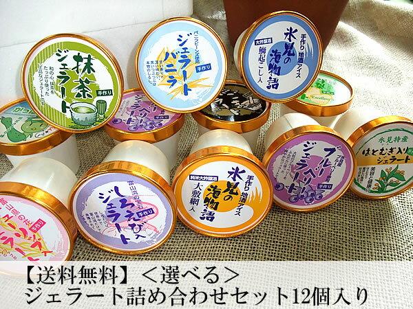 【送料無料】<贈答用にも♪>お好きなジェラート12個選べる♪富山人気店ジェラート店のジェラート詰め合わせセット(12個入り)