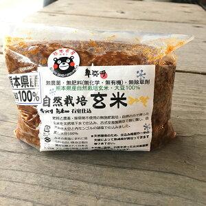 自然栽培玄米みそ750g袋入り・熊本産自然栽培原料100%