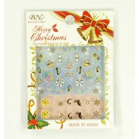 【ネコポス便可】 ビー・エヌ クリスマスで大活躍のネイルシール MCM-05 メリークリスマスネイルアートステッカー