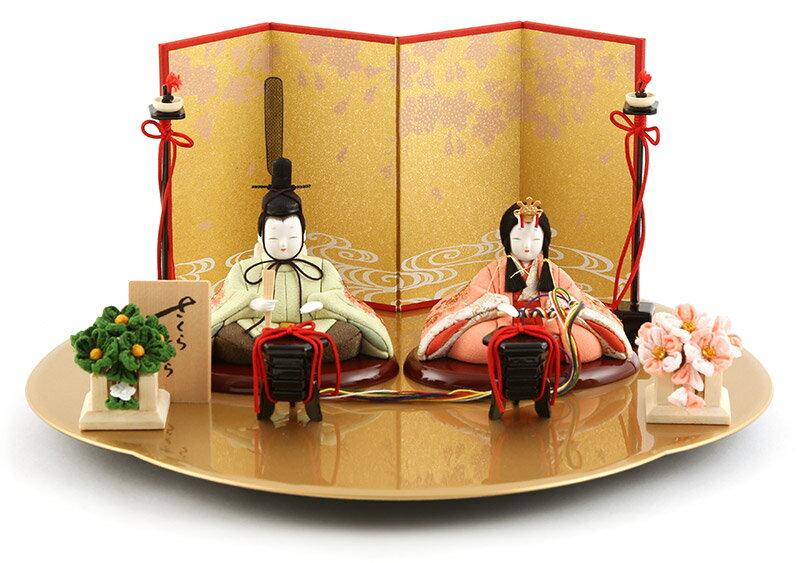 雛人形 一秀 ひな人形 雛 木目込人形飾り 平飾り 親王飾り 木村一秀作 さくらさくら 刺繍 1-3号 【2018年度新作】 h303-ic-122