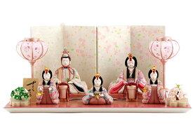雛人形 一秀 ひな人形 雛 木目込人形飾り 平飾り 五人飾り 木村一秀作 さくらさくら 16号 【2020年度新作】 h023-ic-113