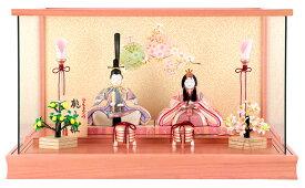 雛人形 一秀 ひな人形 雛 木目込人形飾り ケース飾り 親王飾り 木村一秀作 桃山雛 17-1号 【2020年度新作】 h023-ih-007