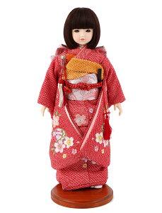 ドールファン必見 遊べるお人形 球体関節人形 aya 着物セット 正絹 赤絞り 桜に鞠 刺繍 ショートボブ(レッドブラウン) スタンド付 mimy-a-brsb-jaw20 こどもの日
