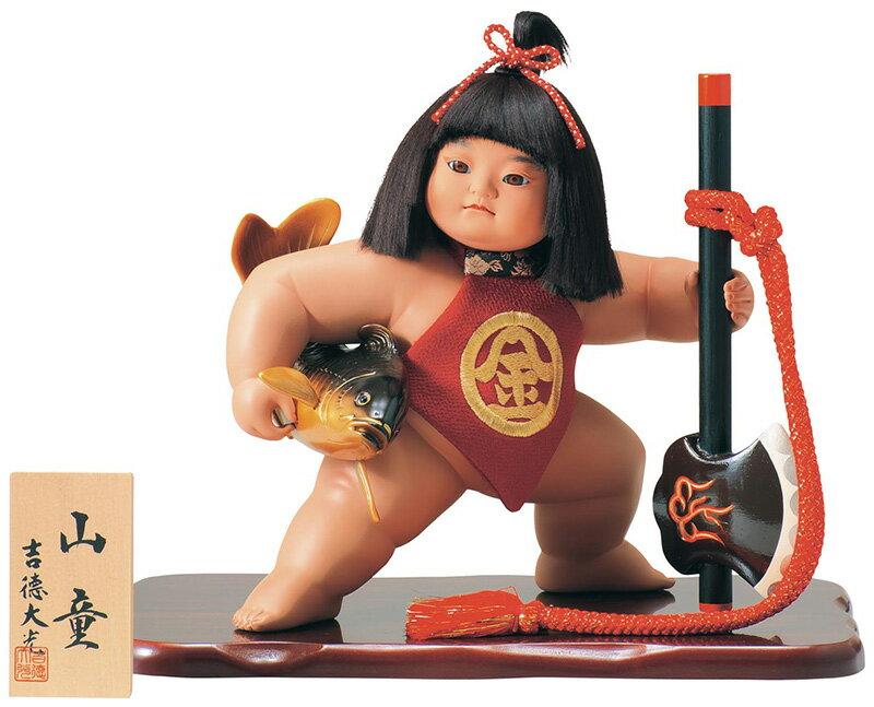 吉徳 五月人形 金太郎 浮世人形 ケース飾り 10号 山童 【2018年度新作】 h305-ys-503260