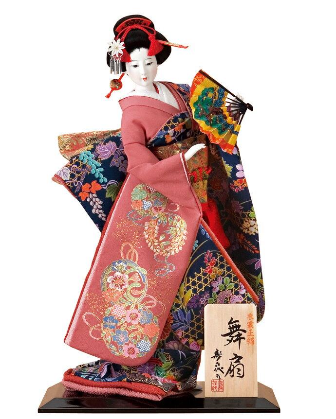 日本人形 尾山人形 人形単品 寿喜代作 舞扇 正絹 10号 【2018年度新作】 sk-o1682