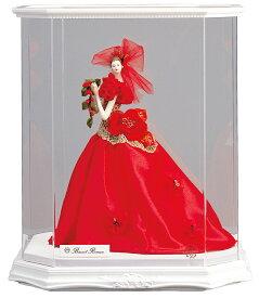 西洋人形 フランス人形 仏蘭西人形 ケース入り人形 寿喜代作 ビスクロマン 赤 アクリルケース付 【2018年度新作】 sk-brk517