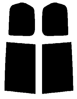 リヤーサイドガラスのみ ニッサン セレナ C26・FNC26・HFC26・NC26・FC26 カット済みカーフィルム ハードコート