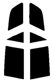 送料無料●リヤーサイドガラスのみ マツダ アテンザスポーツワゴン GYEW・GY3W カット済みカーフィルム ハードコート