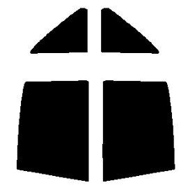 送料無料●リヤーサイドガラスのみ 簡単ハードコート マツダ カペラ セダン GF カット済みカーフィルム