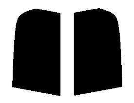 送料無料●リヤーサイドガラスのみ 簡単ハードコート マツダ キャロル 5ドア HB12S・HB22S・HB23S カット済みカーフィルム