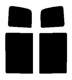 送料無料●リヤーサイドガラスのみ 簡単ハードコート マツダ スクラムワゴン DG64W カット済みカーフィルム