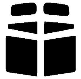 送料無料●リヤーサイドガラスのみ 簡単ハードコート マツダ デミオ DW3W・DW5W カット済みカーフィルム