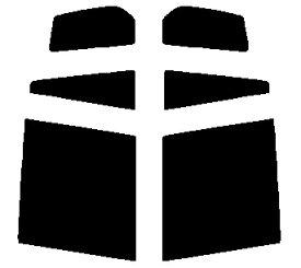 送料無料●リヤーサイドガラスのみ 簡単ハードコート マツダ デミオ DY5W・DY5R・DY3W・DY3R カット済みカーフィルム