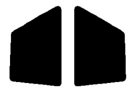 送料無料●リヤーサイドガラスのみ 簡単ハードコート マツダ ファミリア 3ドア BG8Z・BG8S・BG3S・BG6Z・BG6S・BG5S カット済みカーフィルム