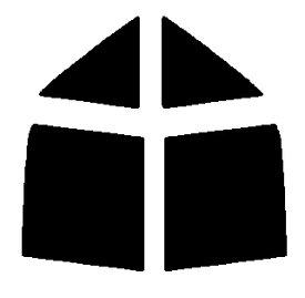 送料無料●リヤーサイドガラスのみ 簡単ハードコート マツダ ファミリア セダン BG8R・BG7P・BG6R・BG6P・BG5P・BG3P カット済みカーフィルム