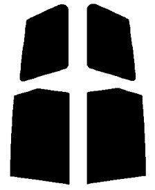 送料無料●リヤーサイドガラスのみ 簡単ハードコート マツダ ファミリアバン Y11カット済みカーフィルム