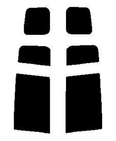 送料無料●リヤーサイドガラスのみ 簡単ハードコート マツダ プレマシー CREW・CR3W カット済みカーフィルム