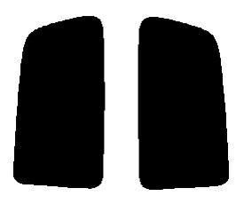 送料無料●リヤーサイドガラスのみ 簡単ハードコート マツダ ラピュタ 3ドア HP21S・HP11S カット済みカーフィルム