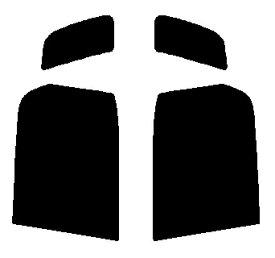 送料無料●リヤーサイドガラスのみ 簡単ハードコート マツダ ラピュタ 5ドア HP21S・HP11S カット済みカーフィルム