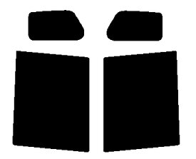 送料無料●リヤーサイドガラスのみ ホンダ N-BOX JF1・JF2カット済みカーフィルム ハードコート