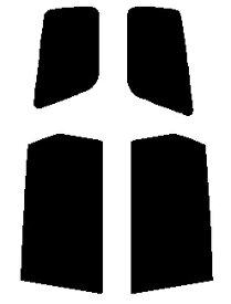 送料無料●リヤーサイドガラスのみ ホンダ オデッセイ RB1・2 後期カット済みカーフィルム ハードコート