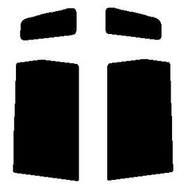 送料無料●リヤーサイドガラスのみ ホンダ ゼスト JE1・JE2 カット済みカーフィルム ハードコート